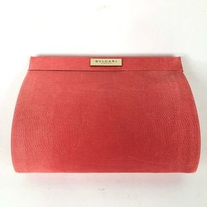 BVLGARI Parfums Perfumes Pink Clamshell Clutch